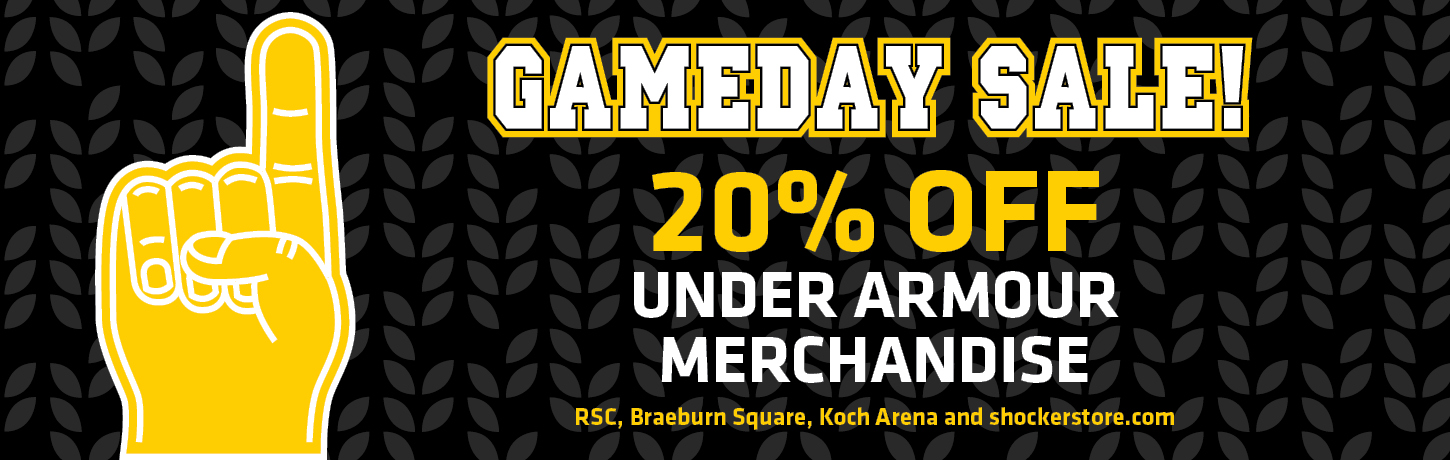 Game Day sale. 20% off Under Armour merchandise
