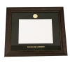 Leathered Wood Diploma Frame with Gold Medallion Image