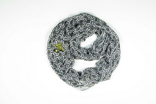 Image For SCARF-DAMASK BLK WU