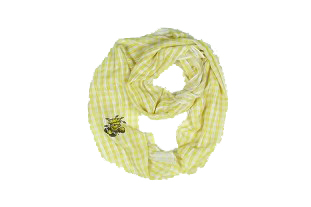 Image For SCARF-GINGHAM GOLD WU