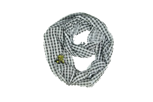 Image For SCARF-GINGHAM BLK WU