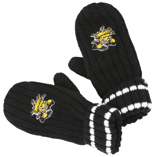 Image For GLOVE-BLK RIBBEDMITTEN WU