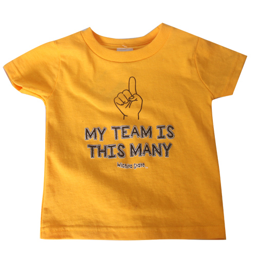 Image For Infant Tee: My Team Is This Many