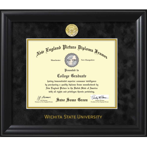 Image For DIPLOMA-THICK BLACK FRAME