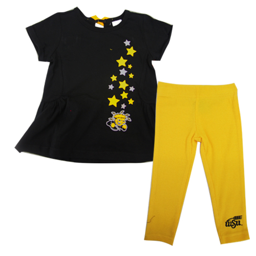 Image For Wu Star Infant Dress and Pant Set