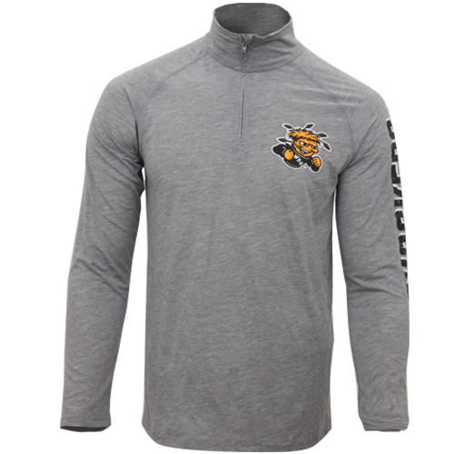 Image For 1/4 zip with Wu and Shockers on Sleeve