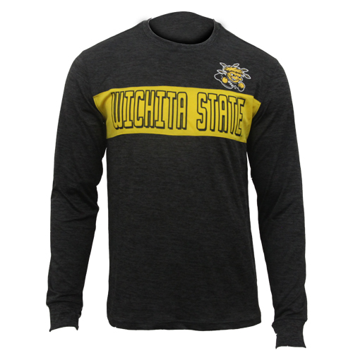 Image For Long Sleeve Tee Big Stripe with Wichita State and Wu