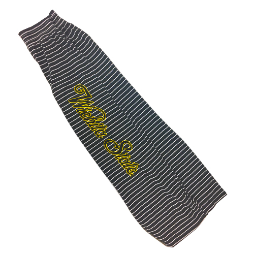 Cover Image For Ladies Striped Pants, Wichita State Script
