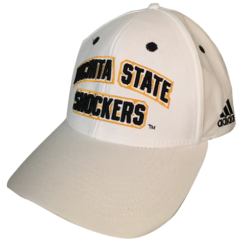 Image For Hat- Adidas White Wichita State Arched over Shockers