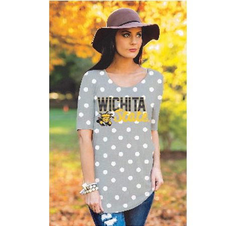 Image For Gameday Couture Ladies Polka Dot Tee
