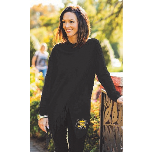 Image For Gameday Fringe Wrap-around Sweater