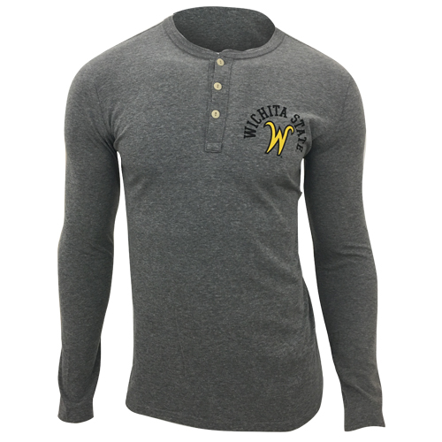 Image For League Long Sleeve Henley W. State over Flying W