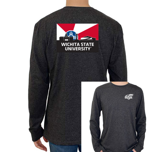 Image For Uscape Long Sleeve Tee- Wichita Flag Skyline