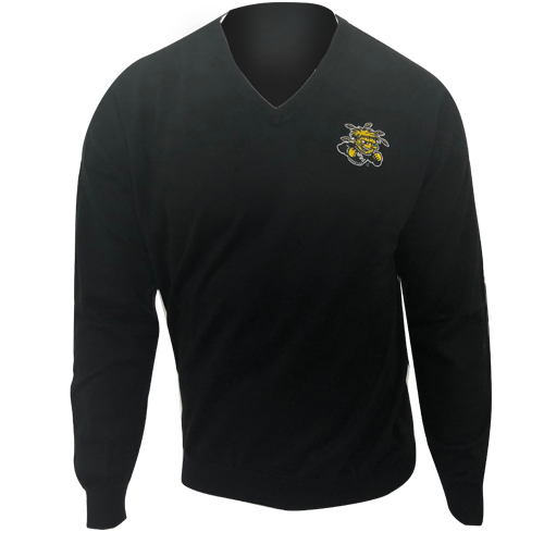 Image For Oxford Vneck Sweater with Wu