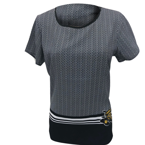 Image For Gameday Couture Herringbone Blouse with Wu