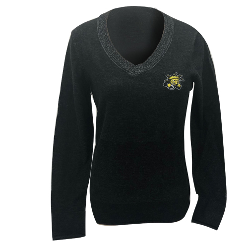 Image For Cutter and Buck V-neck Ladies Sweater with Wu