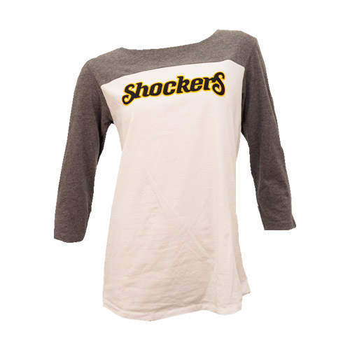 Image For Ladies 2 Tone Raglan- Shocker Script