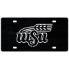 Cover Image for Metal Wheat Logo License Plate