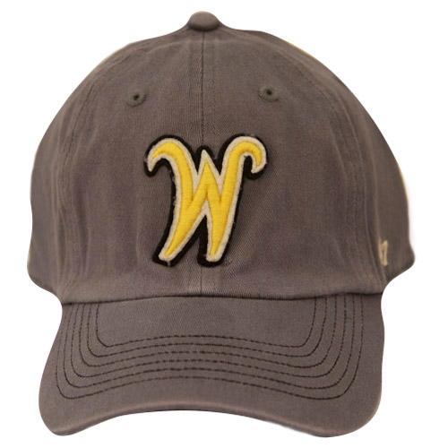 Image For Hat- 47 Brand Soft Grey Flying W in yellow