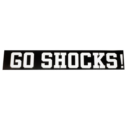 Image For DECAL-WHT GO SHOCKS!