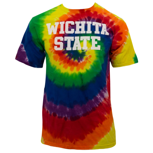 Image For Basic Wichita State Tie Dye Tee