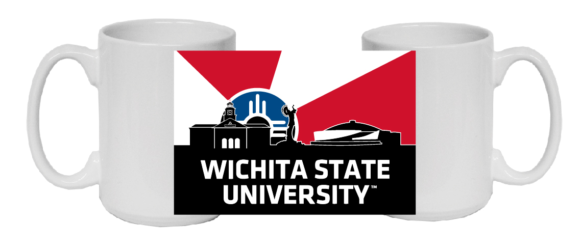Image For Wichita State University™ Wichita Flag Skyline Mug