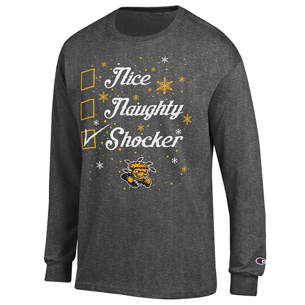 "Image For ""Ugly sweater"" long sleeved t-shirt Naughty & Nice Checklist"