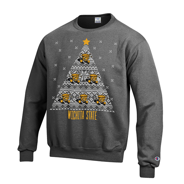"Image For ""Ugly sweater"" crewneck sweatshirt -Wu on the Christmas Tree"