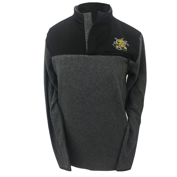Image For 1/4 Zip-Snap Fleece 2 Hit Wu, Wichita State