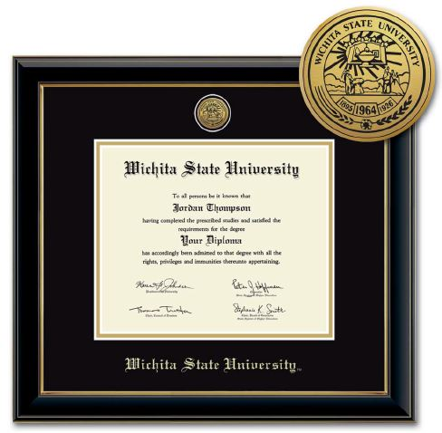 Image For Onyx Diploma Frame with Medallion