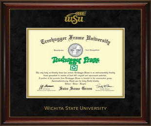 Cover Image For Glossy Mahogany with Gold Accent Diploma Frame