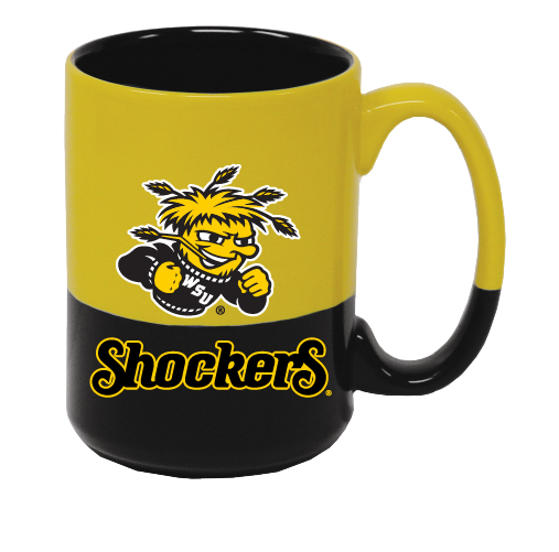 Image For WuShock® Shockers® Black And Gold Two-Tone Mug