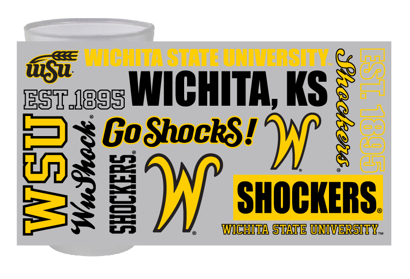 Image For Wichita State University™ Multi-Logo Pint Glass