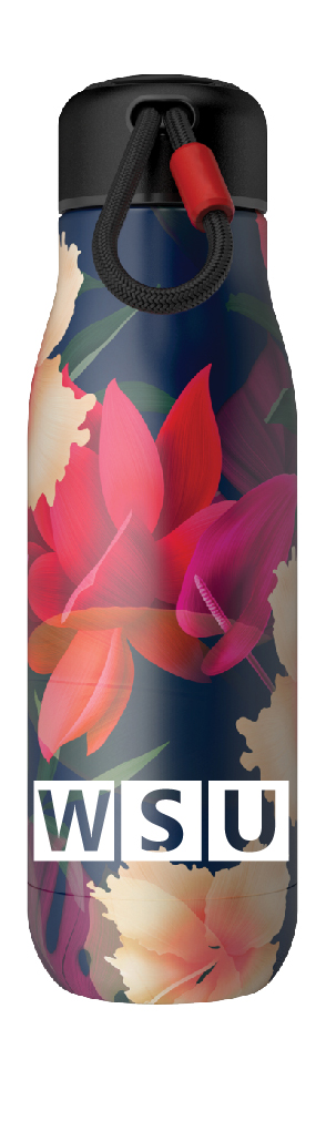 "Image For Zoku® ""WSU"" Floral Water Bottle"