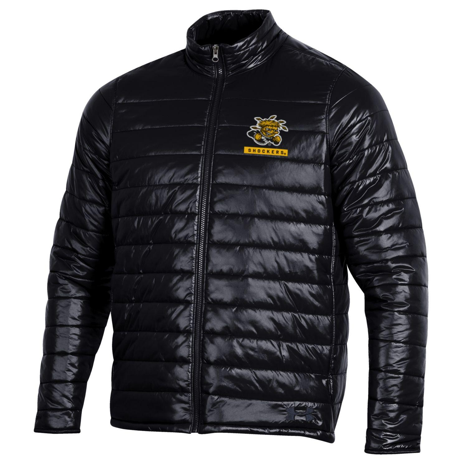Image For Puffy Full-Zip Jacket With WU Over Shockers On Left Front