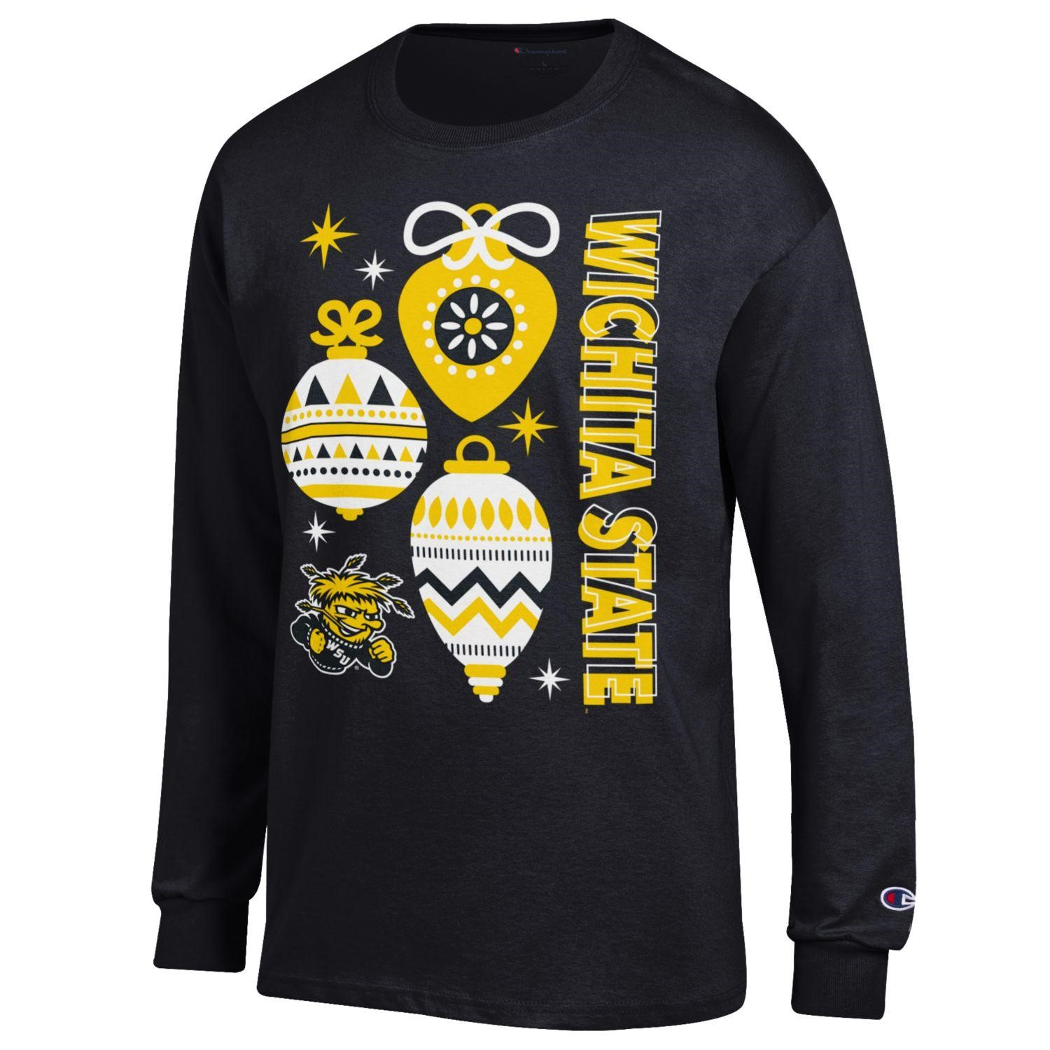 Cover Image For Wichita State™ Ugly Sweater Style Long Sleeve T-Shirt