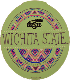 Image For Blue 84 Tribal Wichita State™ Decal