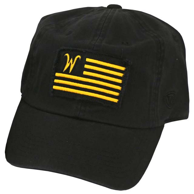Image For Top of the World Flying W flag black adjustable hat