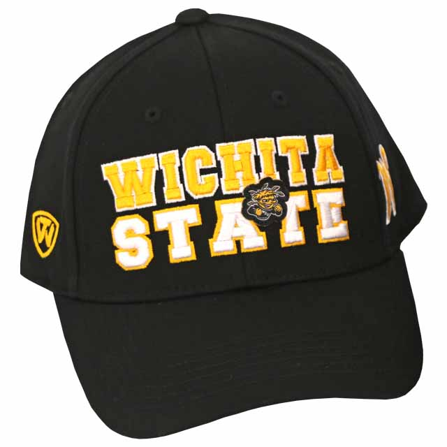 Image For Top of the World Wichita State, WuShock black adjustable hat