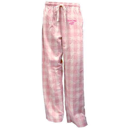Image For Wheat logo pink plaid flannel pants